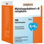 Maitohappobakteeri +B Ratiopharm Молочно-кислые бактерии + Витамин B, 100 капсул